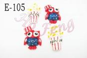 貼飾 E-105-12 貓頭鷹&爆米花