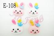 貼飾 E-108 皇冠兔子