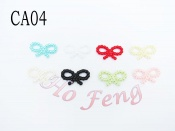 塑膠珍珠色蝴蝶結 CA04
