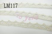 米色蕾絲 LM117 11mm 銀絲線