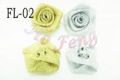 FL02-12  金銀蔥玫瑰花 3cm