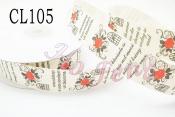 布標  CL105 玫瑰 2.5cm