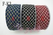 格紋毛線織帶 F-K3 4cm