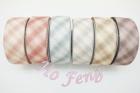 雙層布-格紋緞帶