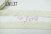 米色蕾絲  LM137 21mm