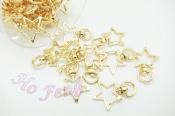 GA09 鉤釦-金色星星