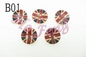 木釦-英國國旗 B01 13mm