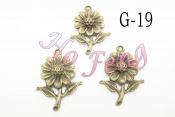 金屬掛件 G-19 花朵