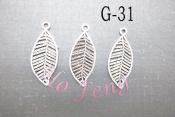 鋅合金 G-31 樹葉